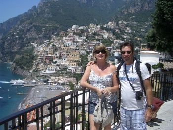 Positano from the water