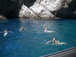 Green grotto swimming