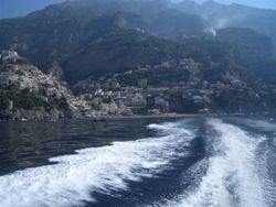 Positano from water