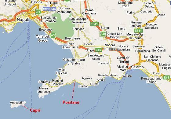 amalfi coast of italy map choice image