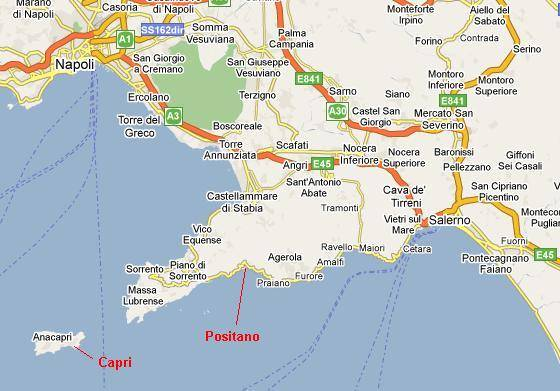 Furore Italy Map.Italy Maps And Amalfi Coast Map